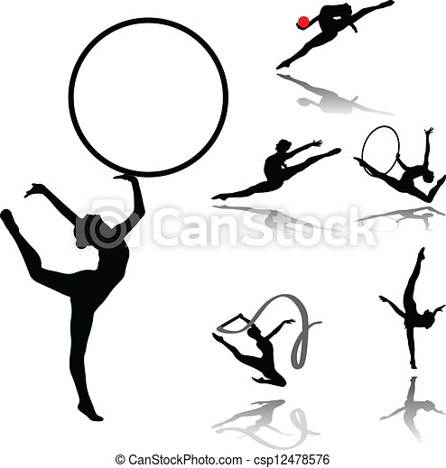 Colección de gimnasia rítmica - csp12478576