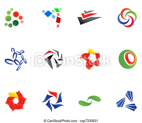 różny, 12, barwny, 10), wektor, symbols:, (set - csp7330631
