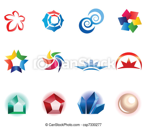 różny, 12, barwny, wektor, symbols:, 1), (set - csp7330277