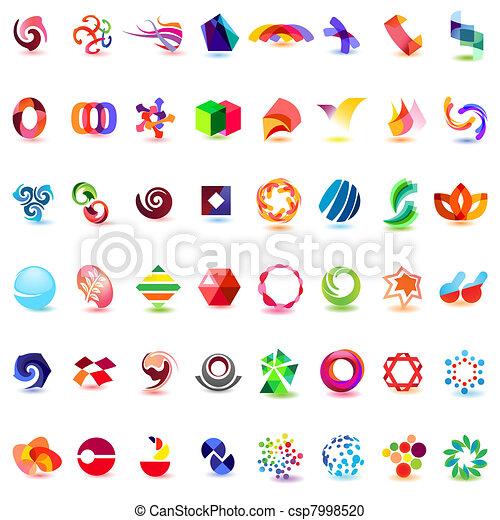 różny, 48, barwny, wektor, 4), icons:, (set - csp7998520