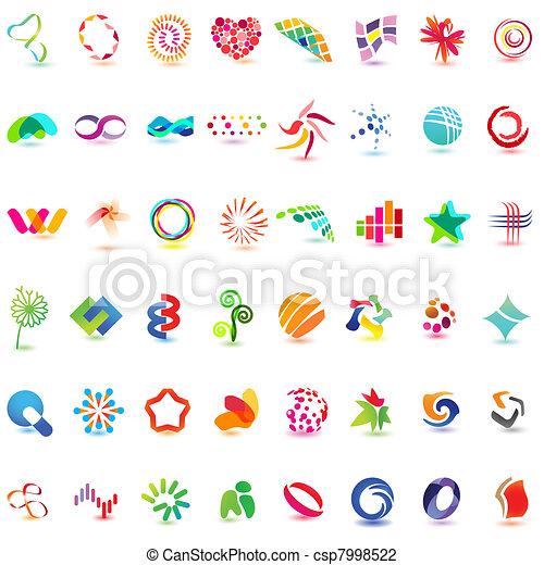 różny, 48, barwny, wektor, 5), icons:, (set - csp7998522