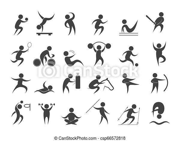 różny, ludzie, set., zbiór, działalność, sport - csp66572818
