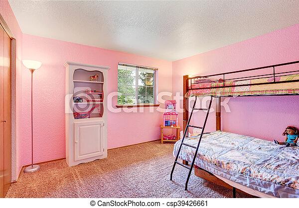 Różowy Dzieciaki Floor Sypialnia Biały Meble Dywan