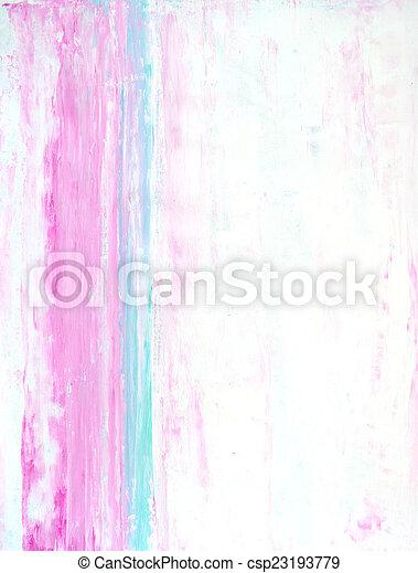 różowy, turkus, sztuka, abstrakcyjny - csp23193779