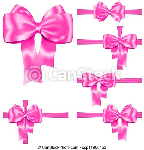 rózsaszínű, állhatatos, szalag, íj - csp11968453