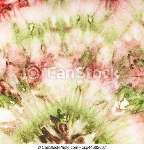 rózsaszínű, lakberendezési tárgyak, elvont, batik, zöld, selyem - csp44682687