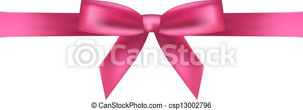 rózsaszínű, vektor, ábra, íj - csp13002796