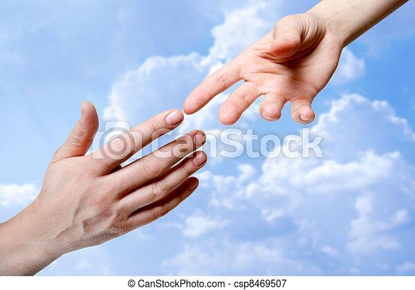 røre, hænder - csp8469507