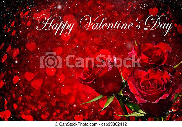 růže, znejmilejší den, grafické pozadí - csp33362412