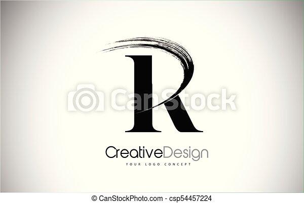 R brush stroke letter logo design black paint logo leters vector r brush stroke letter logo design black paint logo leters icon csp54457224 altavistaventures Gallery