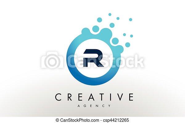 R letter logo blue dots bubble design vector r dots letter logo r letter logo blue dots bubble design vector thecheapjerseys Images