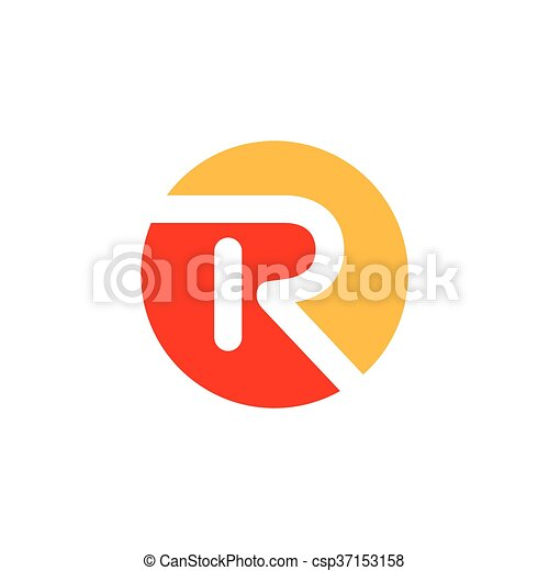 R Logo Design Abstract Letter Template Vector
