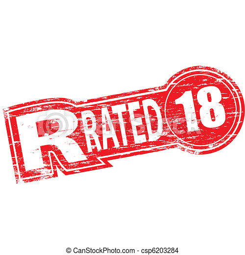 R Rated Stamp Rubber Stamp Illustration Showing R Rated Text