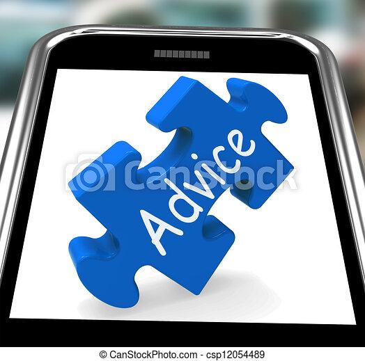 raad, smartphone, leiding, optredens - csp12054489