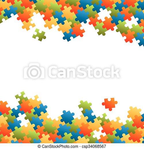 raadsel, achtergrond, stukken - csp34068567