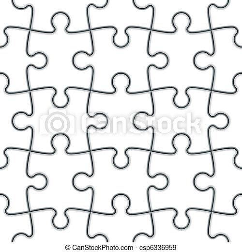 raadsel, jigsaw, seamless - csp6336959