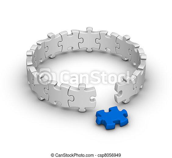 raadsel, jigsaw - csp8056949