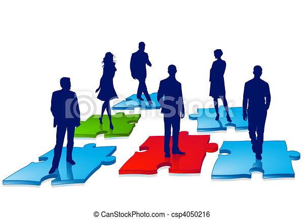 raadsel, zakenlui - csp4050216