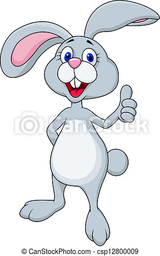 Rabbit cartoon with thumb up - csp12800009