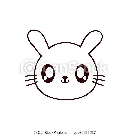 Rabbit Kawaii Cute Animal Icon Rabbit Kawaii Cute Animal Little