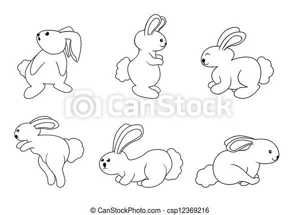 rabbit set - csp12369216