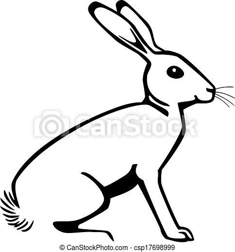 Rabbit Sitting Vector Illustration A Rabbit Sitting Down