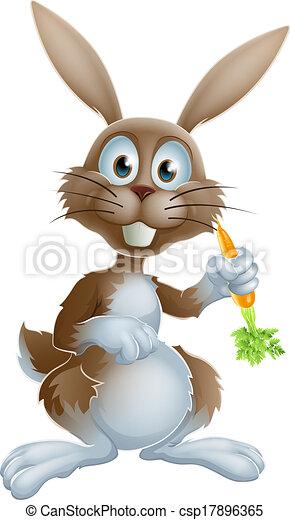 Rabbit with carrot - csp17896365