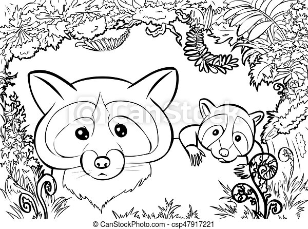American Black Bear Family coloring page | Free Printable Coloring ... | 340x450