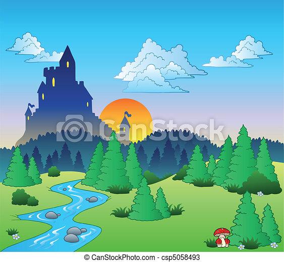 racconto, 1, fata, paesaggio - csp5058493