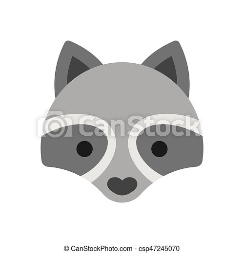 Raccoon face icon. Cute cartoon raccon face icon. simple ... Raccoon Face Clip Art