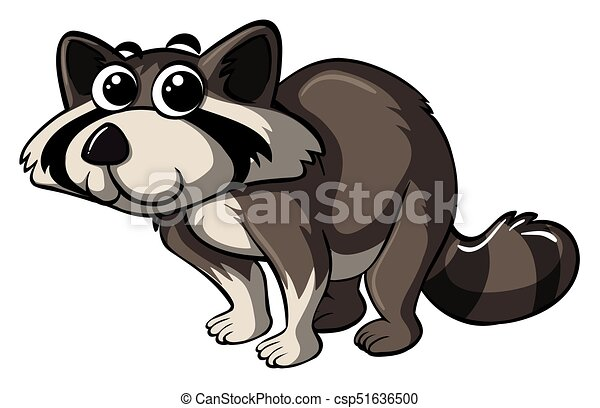 Raccoon with happy face - csp51636500