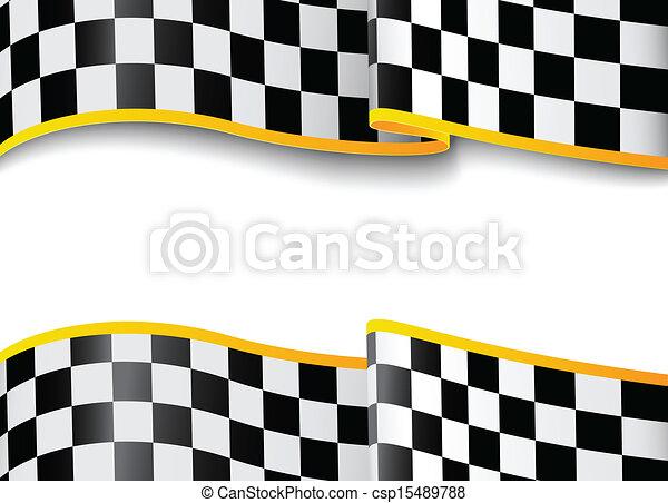 Race background. Checkered - csp15489788