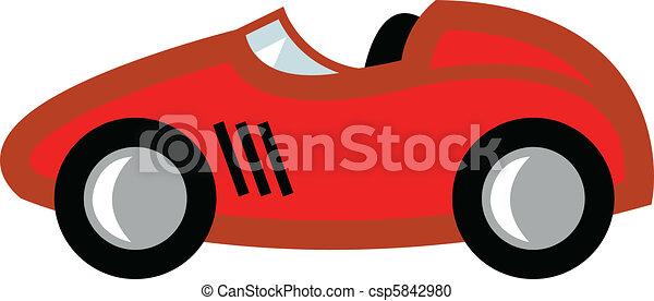 race car cartoon race car in cartoon style or child s toy rh canstockphoto com Race Car Clip Art Borders Race Car Clip Art Borders