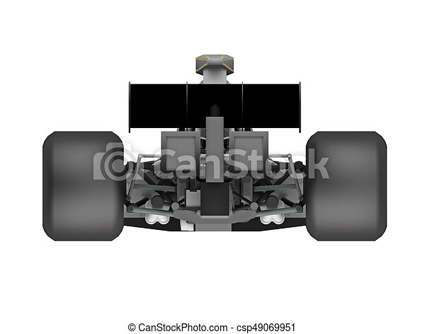 Race Car Formula Back View