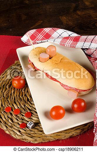 Race car hot dog - csp18906211