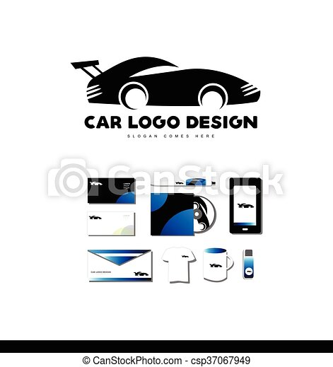 Race car logo icon design - csp37067949