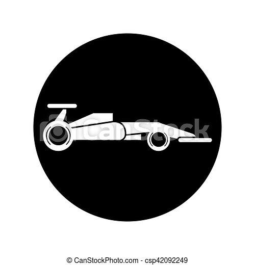 Race car of formula racing concept