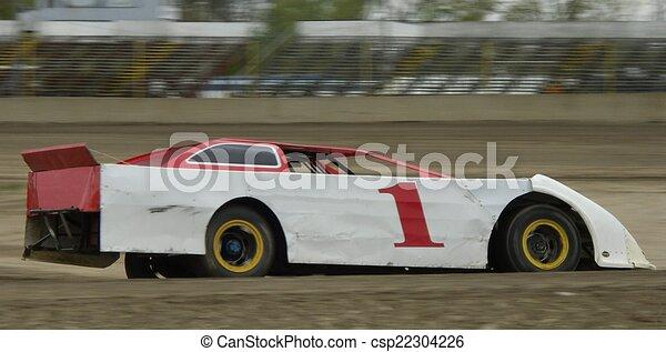 Race Car On Dirt   Csp22304226