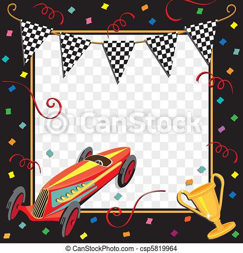 Race Car Party Invitation - csp5819964