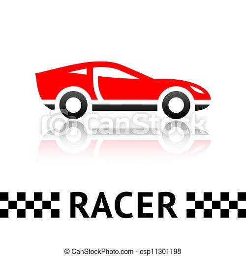 Race Car Symbol Race Red Car Symbol Vector Design Element Eps