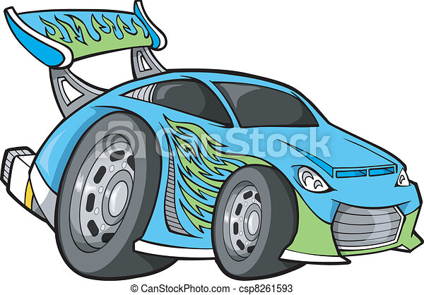 race-car, vecteur, art, hot-rod - csp8261593