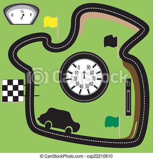 Race circurt. - csp22210610
