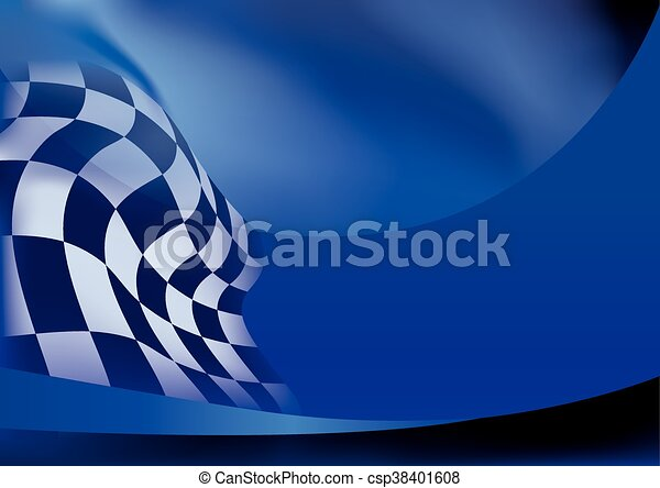 race flag  background vector illustration - csp38401608