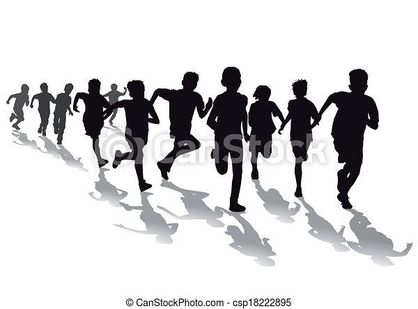 Race pied enfants avoir - Dessin de course a pied ...
