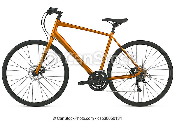 race road bike isolated - csp38850134