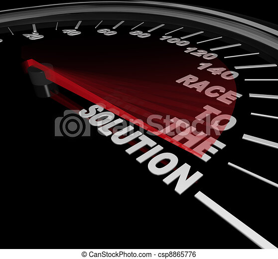 Race to the Solution Speedometer Solve Problem - csp8865776