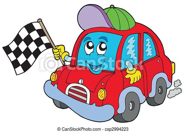 Race voiture d marreur course illustration voiture - Dessin anime voiture de course ...