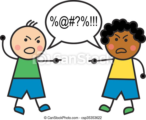 racial conflict black man and caucasian man swear and vector rh canstockphoto com Diversity Planning Committee Clip Art Diversity Clip Art Funny