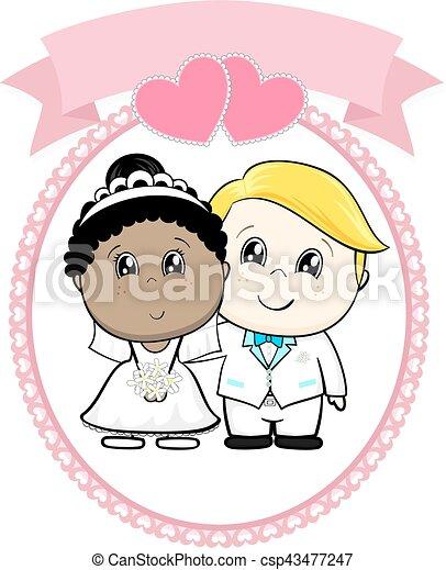 Dibujos de boda racial - csp43477247