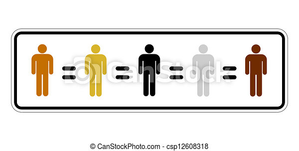 racial equality traffic sign representing humans of clipart rh canstockphoto com clipart equality black equality clipart